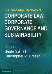 The Cambridge Handbook of Corporate Law, Corporate Governance and Sustainability