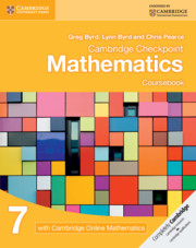 Cambridge Checkpoint Mathematics Coursebook 7 with Cambridge Online Mathematics (1 Year)