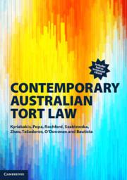 Contemporary Australian Tort Law