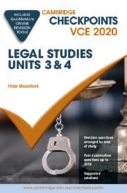 Cambridge Checkpoints VCE Legal Studies Units 3&4 2020