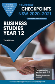Cambridge Checkpoints NSW Business Studies Year 12 2020-2021