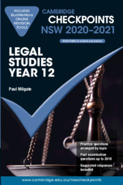 Cambridge Checkpoints NSW Legal Studies Year 12 2020-2021