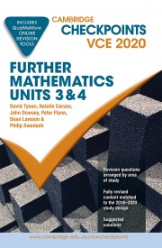 Cambridge Checkpoints VCE Further Mathematics Units 3&4 2020