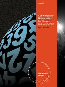 Contemporary Mathematics for Business and Consumers, International Edition (with Printed Access Card)