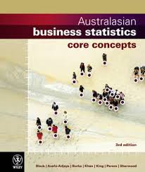 Australasian Business Statistics 3E Core Concepts + Wileyplus/Istudy Version 1 Registration Card