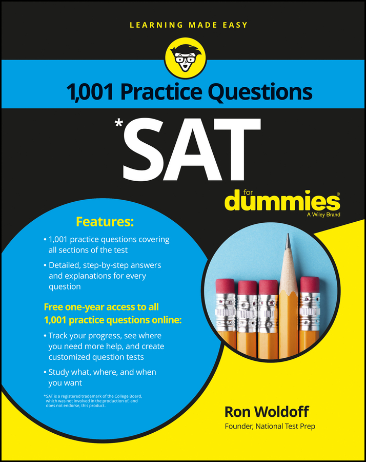 1,001 SAT Practice Questions For Dummies