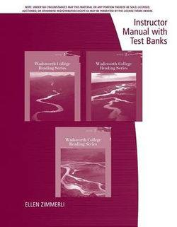 Instructor's Manual and Test Bank for Cengage Learning's Wadsworth College Reading Series: Book 1, Book 2 and Book 3