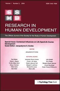 Contextual Influences on Life Span/life Course
