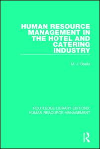 Human Resource Management in the Hotel and Catering Industry