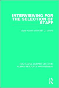 Interviewing for the Selection of Staff