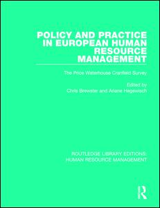 Policy and Practice in European Human Resource Management