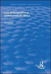 Law of Defamation in Commonwealth Africa