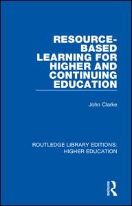 Resource-Based Learning for Higher and Continuing Education