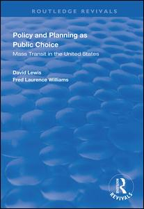 Policy and Planning as Public Choice