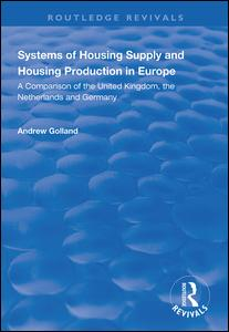 Systems of Housing Supply and Housing Production in Europe