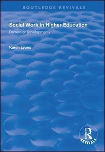 Social Work in Higher Education