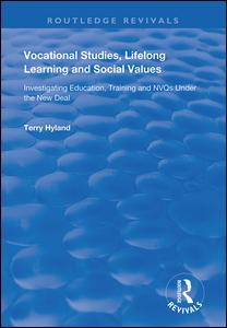 Vocational Studies, Lifelong Learning and Social Values