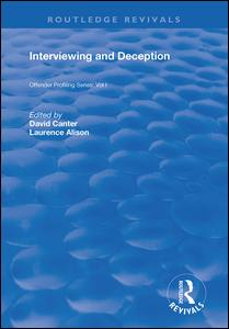 Interviewing and Deception