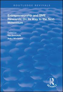 Entrepreneurship and SME Research