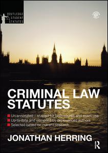 Criminal Law Statutes 2012-2013