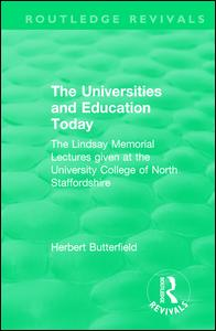 Routledge Revivals: The Universities and Education Today (1962)