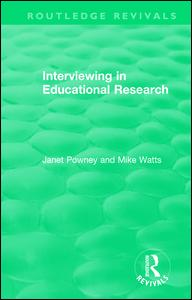 Interviewing in Educational Research