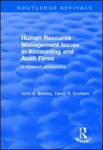 Human Resource Management Issues in Accounting and Auditing Firms