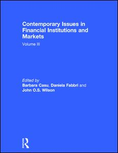 Contemporary Issues in Financial Institutions and Markets