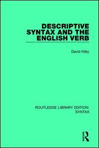 Descriptive Syntax and the English Verb