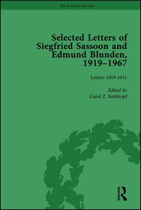 Selected Letters of Siegfried Sassoon and Edmund Blunden, 1919–1967 Vol 1