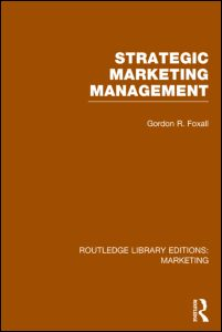 Strategic Marketing Management (RLE Marketing)