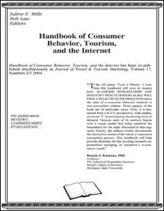 Handbook of Consumer Behavior, Tourism, and the Internet
