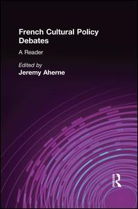 French Cultural Policy Debates