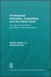 Professional Education, Capabilities and the Public Good