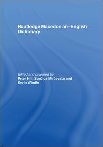 The Routledge Macedonian-English Dictionary