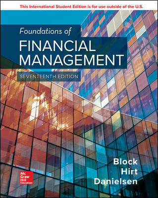 FOUNDATIONS OF FINANCIAL MANAGEMENT, 17E