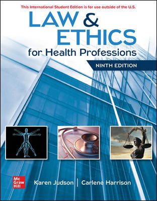 ISE Law & Ethics for Health Professions