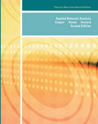 Applied Behavior Analysis, Pearson New International Edition