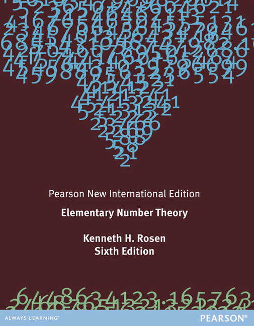 Elementary Number Theory, Pearson New International Edition
