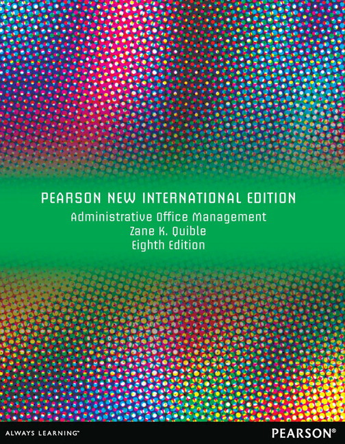 Administrative Office Management, Pearson New International Edition
