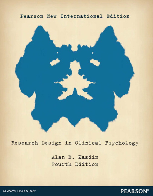 Research Design in Clinical Psychology, Pearson New International Edition
