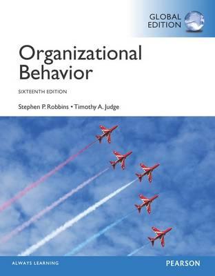 Organizational Behaviour Global 16th Edition