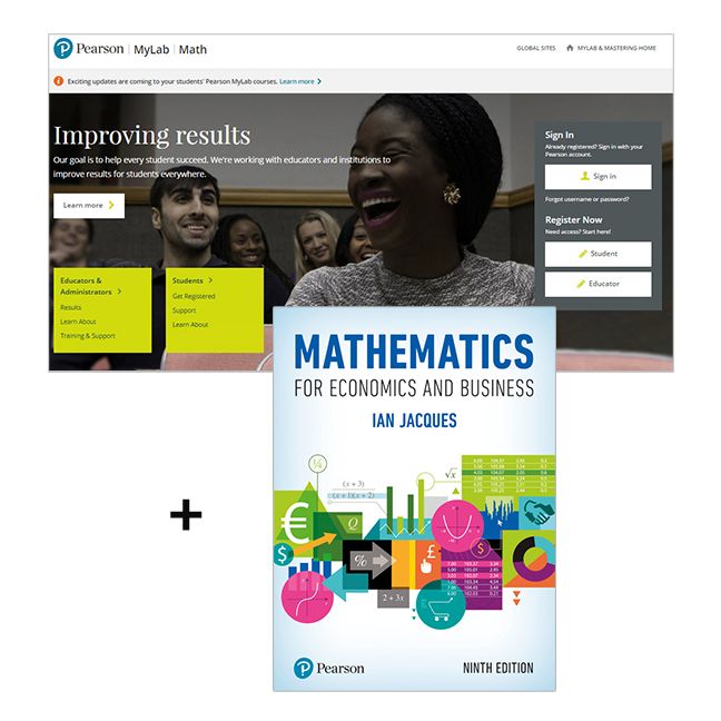Mathematics for Economics and Business with MyLab Math