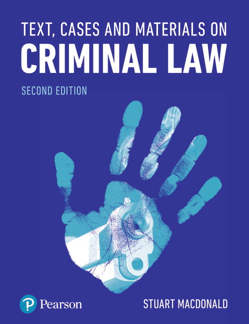 Text, Cases and Materials on Criminal Law