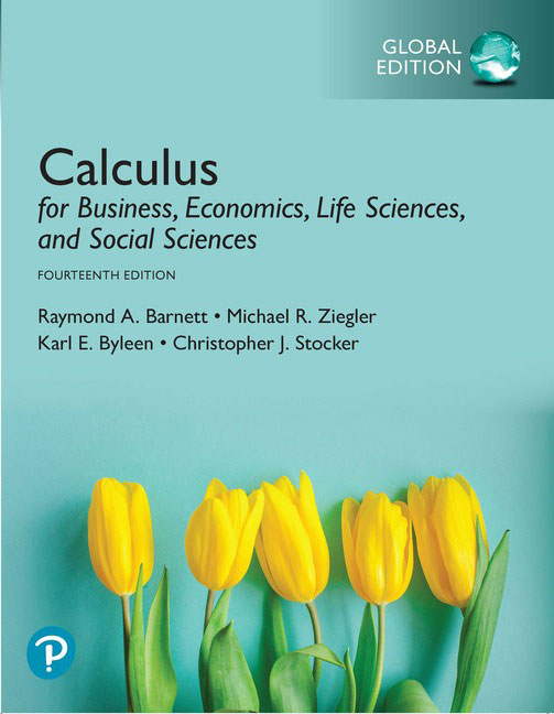 Calculus for Business, Economics, Life Sciences, and Social Sciences, Global Edition