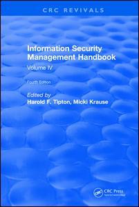 Information Security Management Handbook, Fourth Edition