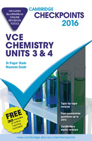 Cambridge Checkpoints VCE Chemistry Units 3 and 4 2016 and Quiz Me More