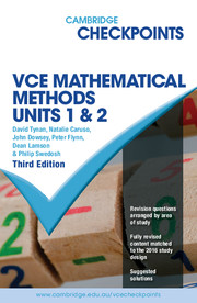 Cambridge Checkpoints VCE Mathematical Methods Units 1 and 2