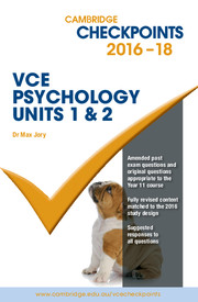 Cambridge Checkpoints VCE Psychology Units 1 and 2
