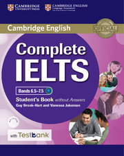 Complete IELTS Bands 6.5-7.5 Student's Book without Answers with CD-ROM with Testbank